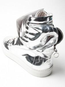 Raf Simons Silver Astranaut Boot