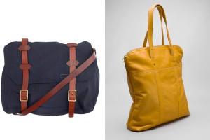 Слева-направо: Rag & Bone Messenger Bag, Billykirk Padded Flight Bag