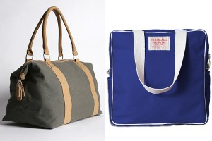 Слева-направо: Urban Outfitters Canvas Weekender, Wm. J. Mills & Co. Flight Bag