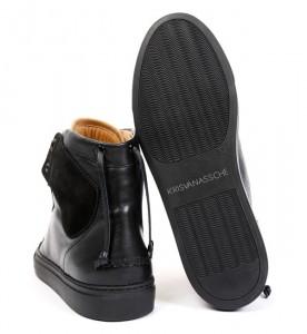 Черные кроссовки KRIS VAN ASSCHE