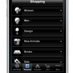 Меню приложения Yoox.com Style Gift Guide для iPhone