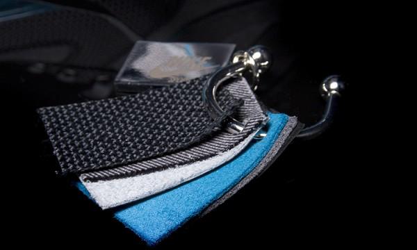 Примеры материалов, использованных при создании кроссовок