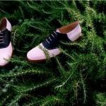 Мужские двухцветные оксфордские туфли, а-ля туфли для боулинга