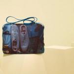 Кожаная мужская сумка с принтом Paul Smith