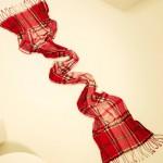 Мужской летний шарф в клетку Paul Smith