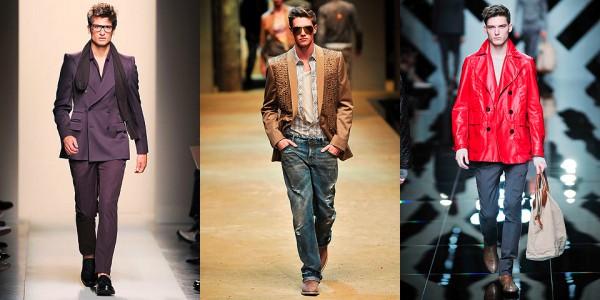 Костюм с двубортным пиджаком, Bottega Veneta; двубортный блейзер, D&G, красная двубортная куртка, Burberry Prorsum