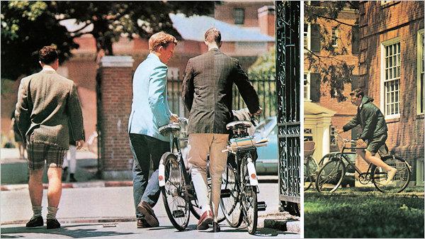 Студенты «Лиги Плюща» и их велосопеды