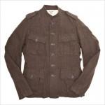 Зеленая милитари-куртка с 4 накладными карманами и погонами от Gilded Age