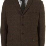 Коричневый твидовый пиджак в клетку, Harris Tweed x Topman