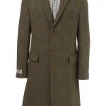Зеленое мужское пальто из твида, Harris Tweed x Topman