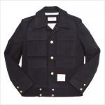 Короткая куртка-пилот в военном стиле милитари от Thom Browne