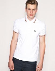 Белая мужская рубашка поло, Fred Perry