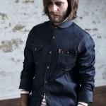 Джинсовая рубашка со скругленным воротником, Ben Sherman Modern Classic