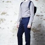 Рубашка с контрастным воротником, синие чиносы, Ben Sherman Modern Classic