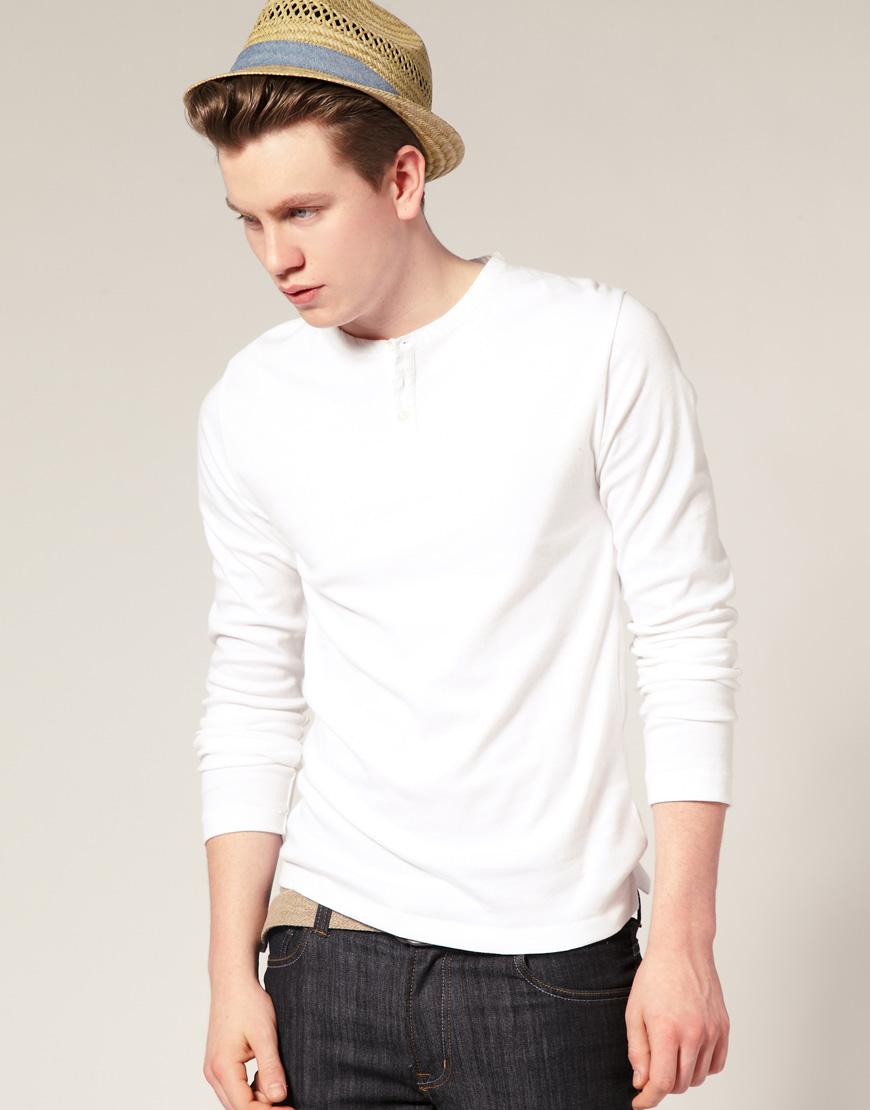 Мужская рубашка Хенли белая, French Connection