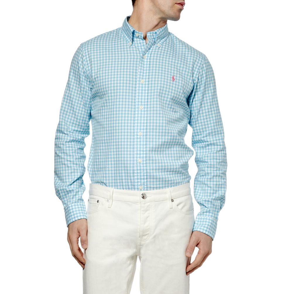 Мужская рубашка в клетку из ткани оксфорд, Polo Ralph Lauren