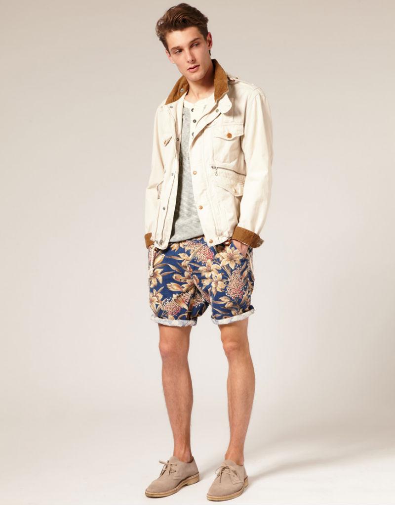 Хлопковые шорты-чинос с цветочным принтом Polo Ralph Lauren
