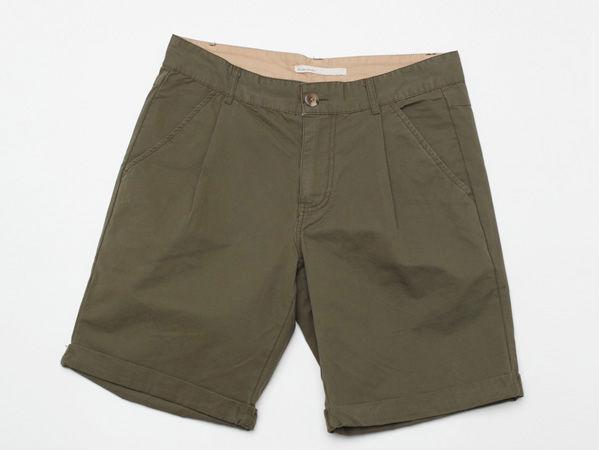 Летние мужские шорты цвета хаки