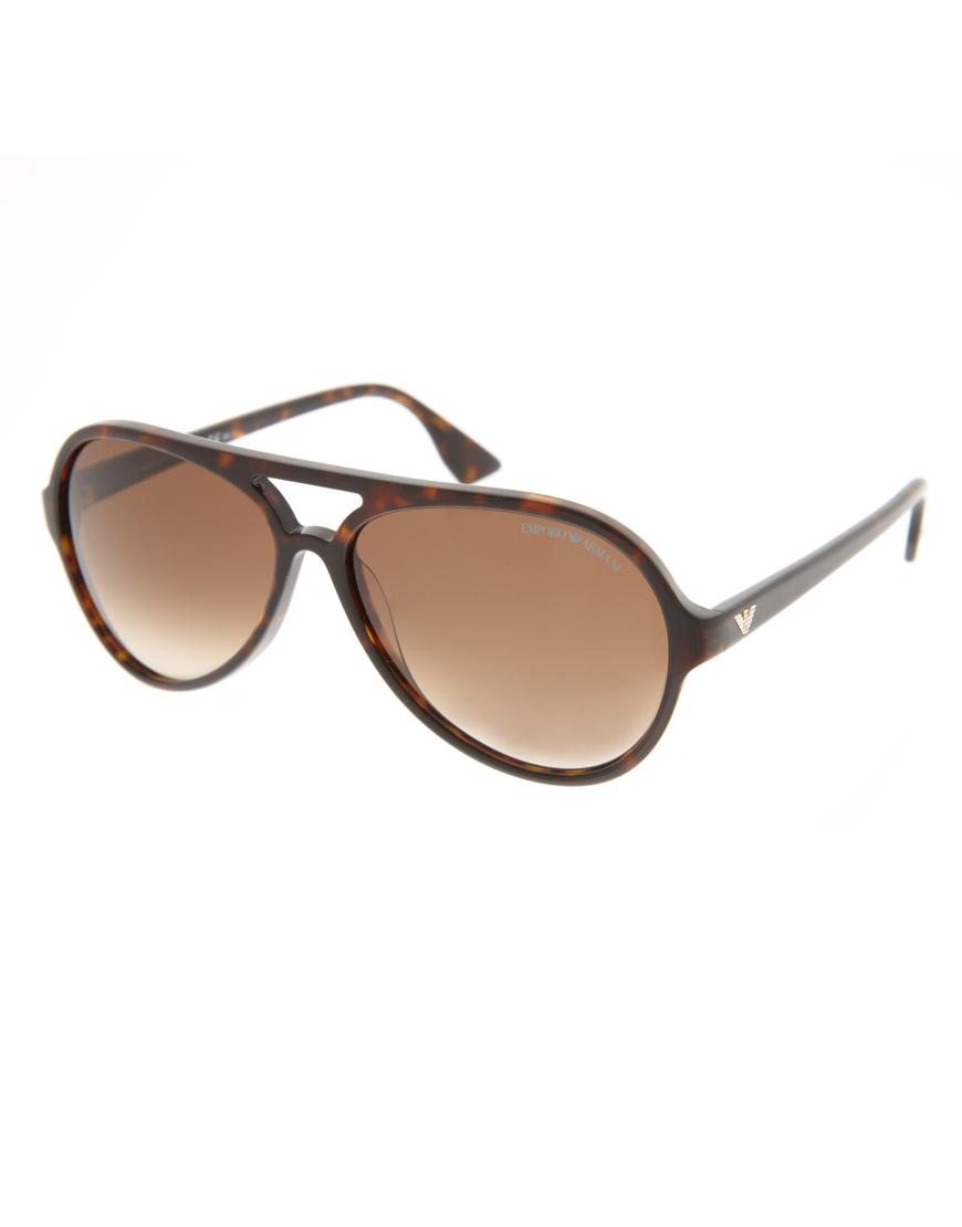 Мужские солнцезащитные очки авиаторы, Emporio Armani