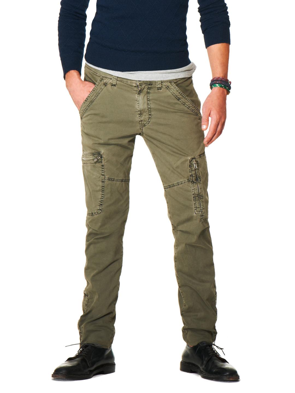 Узкие брюки-карго зеленого цвета, J Brand