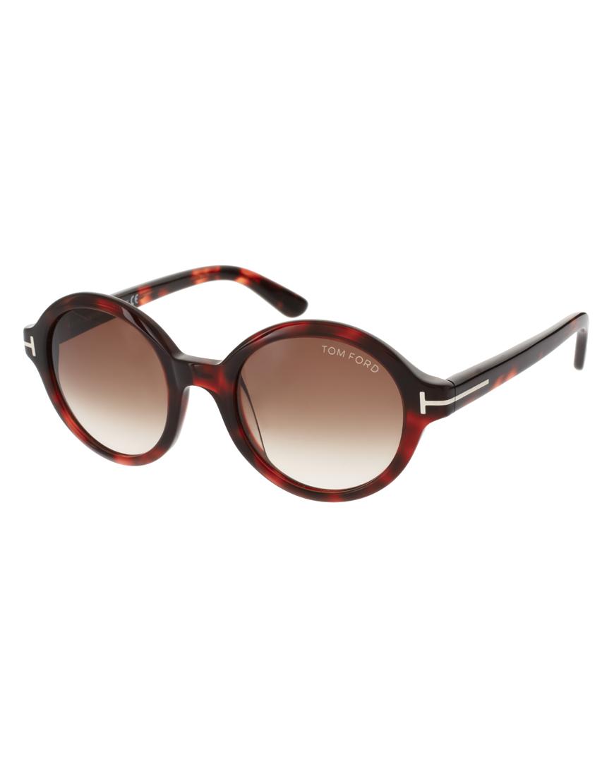 Мужские солнцезащитные очки круглой формы, Tom Ford