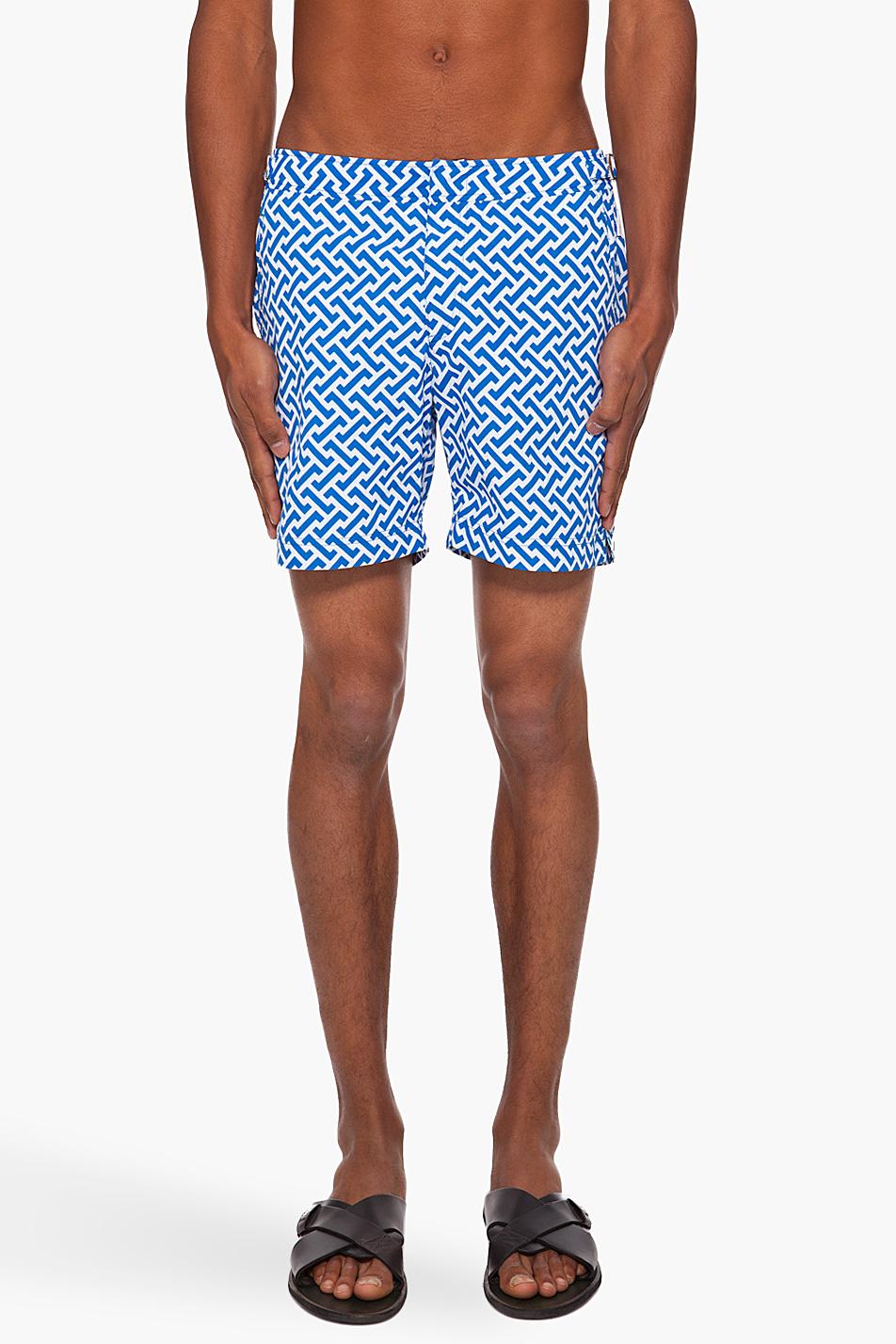 Мужские пляжные шорты с мелким рисунком, Orlebar Brown