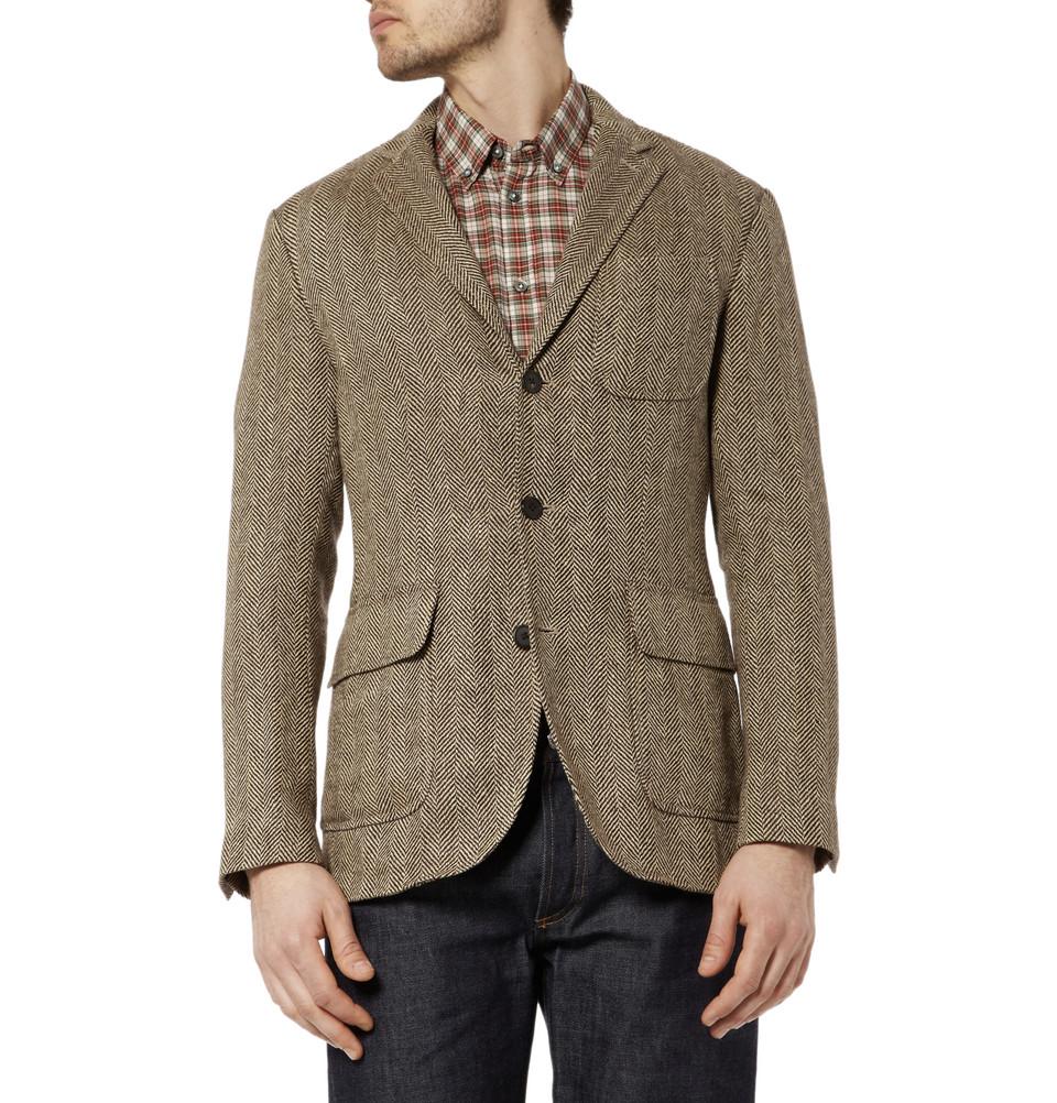Мужской твидовый пиджак на трех пуговицах, Polo Ralph Lauren
