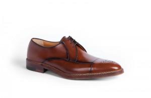 Мужские туфли с открытой шнуровкой из кожи теленка в норвежском стиле, a.testoni