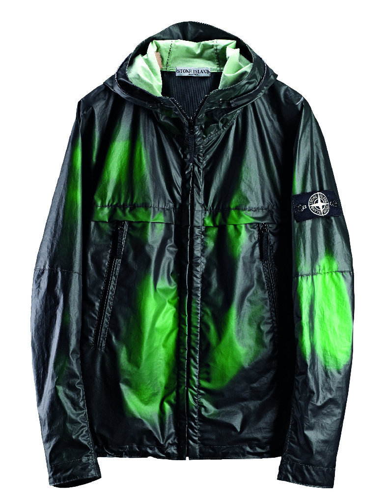Куртка Stone Island Heat Reactive Jacket меняющая цвет с черного на зеленый