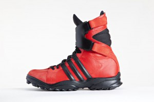 Мужские кожаные высокие кроссовки adidas Y-3 GSGX красные