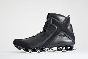 Мужские черные высокие кроссовки adidas Y-3 X Bounce из кожи