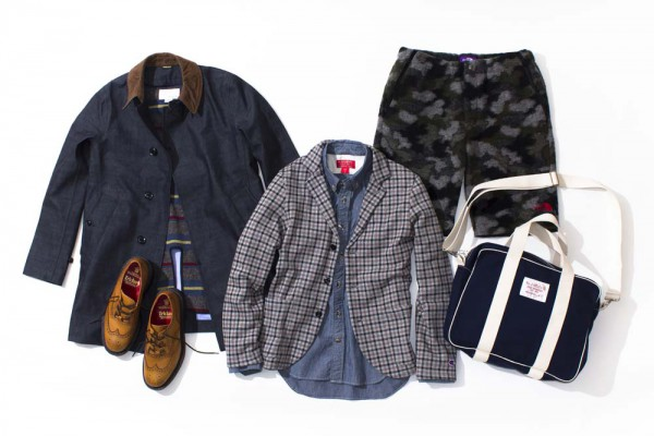 Куртка, пиджак nanamica, шорты The North Face, ботинки Tricker's