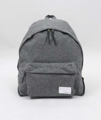 Мужской рюкзак из серой шерсти, Nanamica