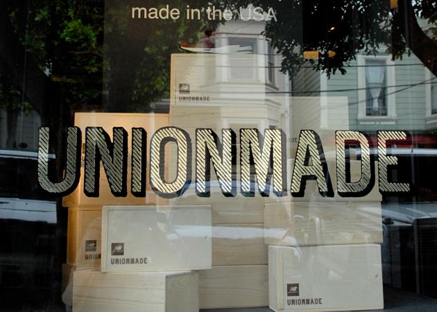 Витрина американского магазина мужской одежды UNIONMADE