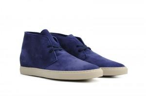Мужские ботинки desert boots из синей замши, Common Projects