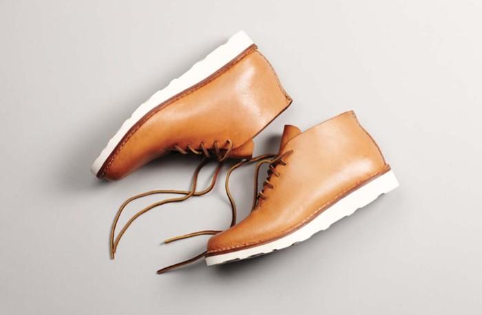 Светло-коричневые мужские ботинки-чукка на белой подошве Vibram, FEIT