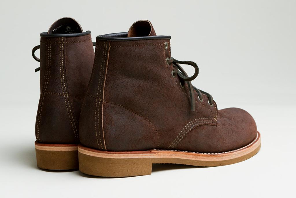 Высокие ботинки Red Wing x Cabourn цвета темного шоколада