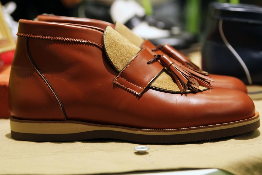 Ботинки desert boots без шнурков H? Katsukawa from Tokyo коричневого цвета
