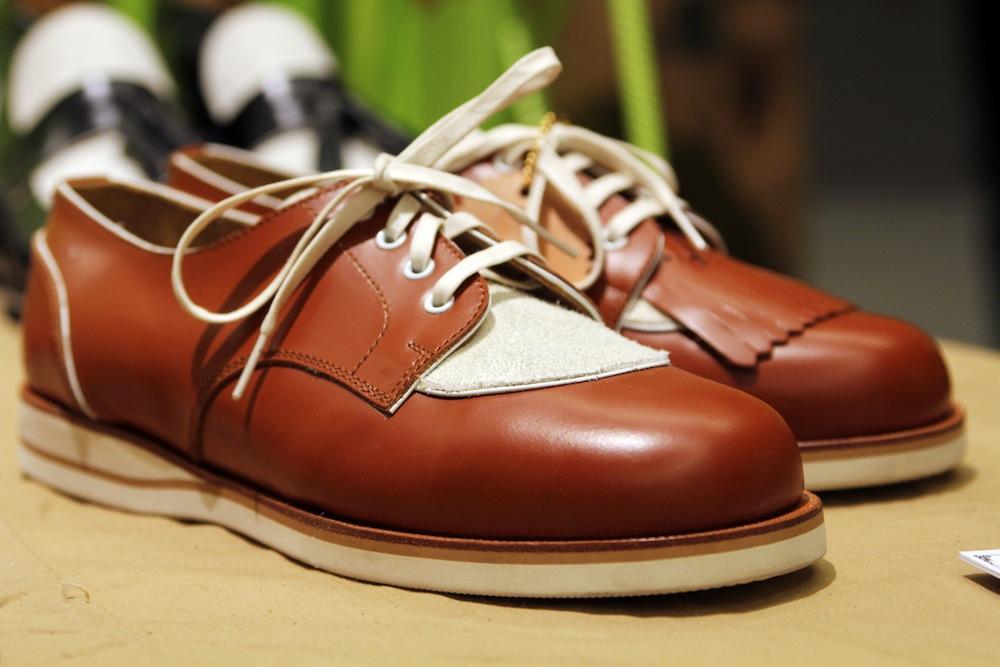 Мужские коричневые туфли для гольфа H? Katsukawa from Tokyo