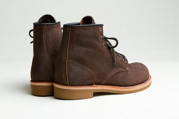 Высокие ботинки из темно-коричневой замши Red Wing Munson Boot
