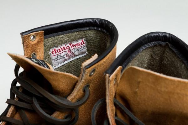 Подкладка из шерстяного твида Harris Tweed в ботинках Red Wing Munson Boot