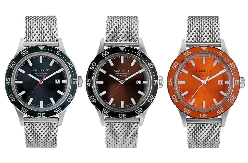Часы GANT Rugger L.A.S. в стальном корпусе с циферблатом трех цветов