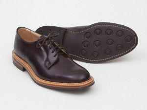 Ботинки Tricker's x Superdenim из кожи кордован цвета Mogano