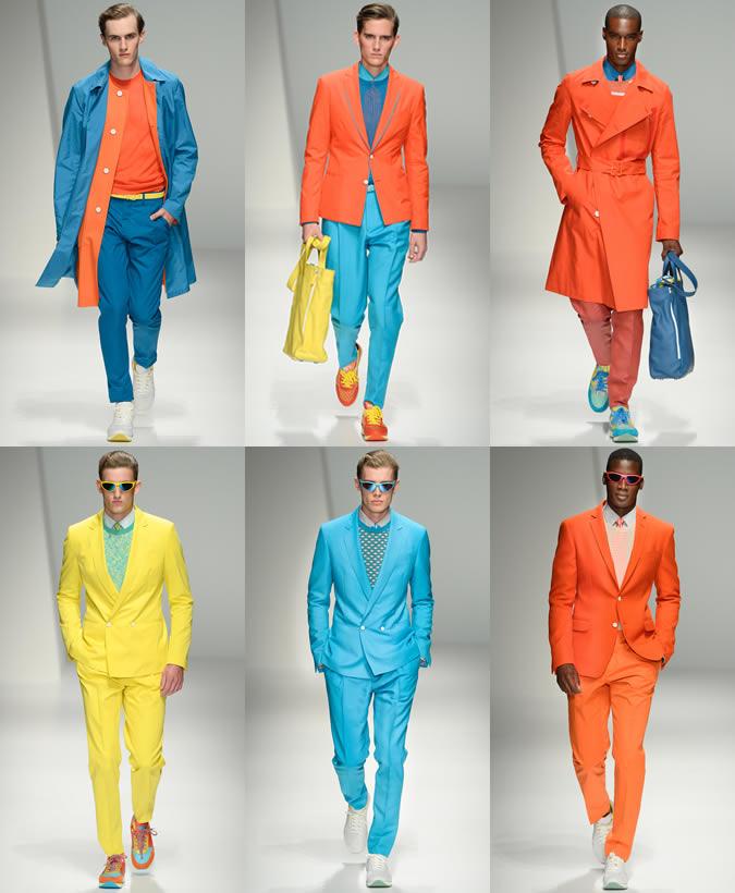 Мужчины в одежды ярких неоновых расцветок