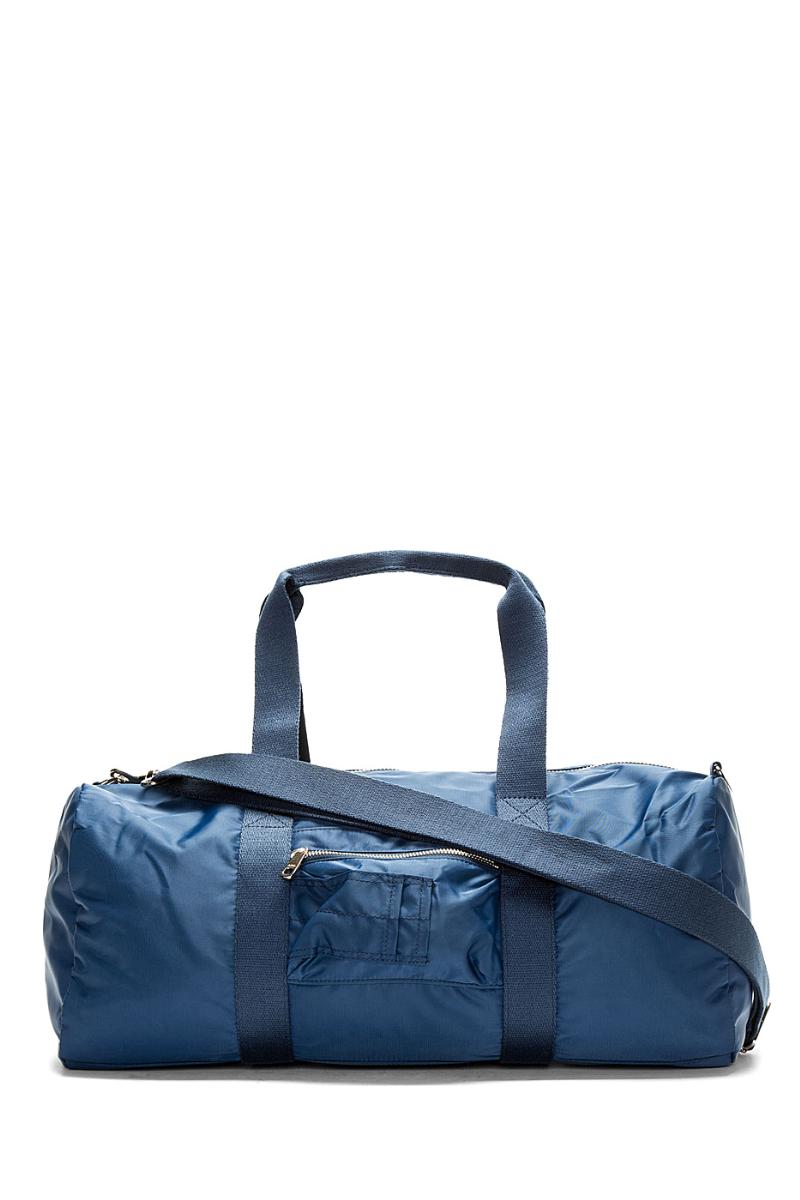 Вместительная мужская сумка-дафл из синего нейлона, A.P.C.