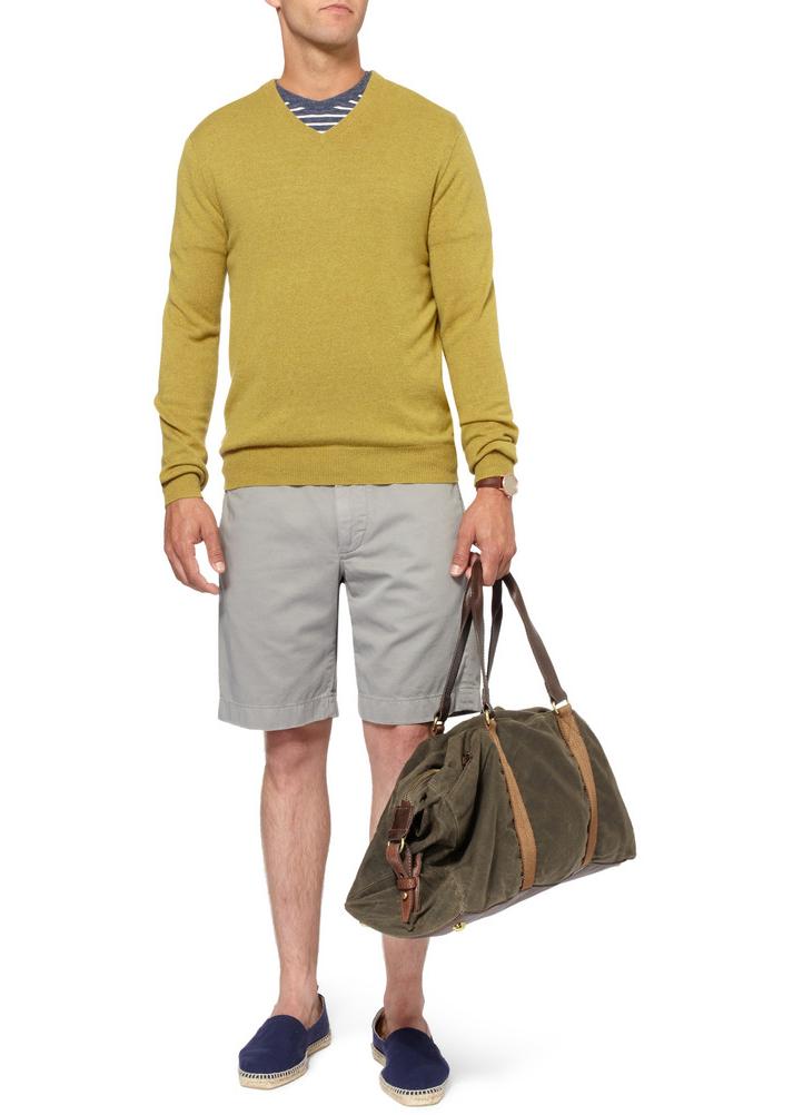 Мужчина в вощёной хлопковой сумкой-холлдол, J.Crew