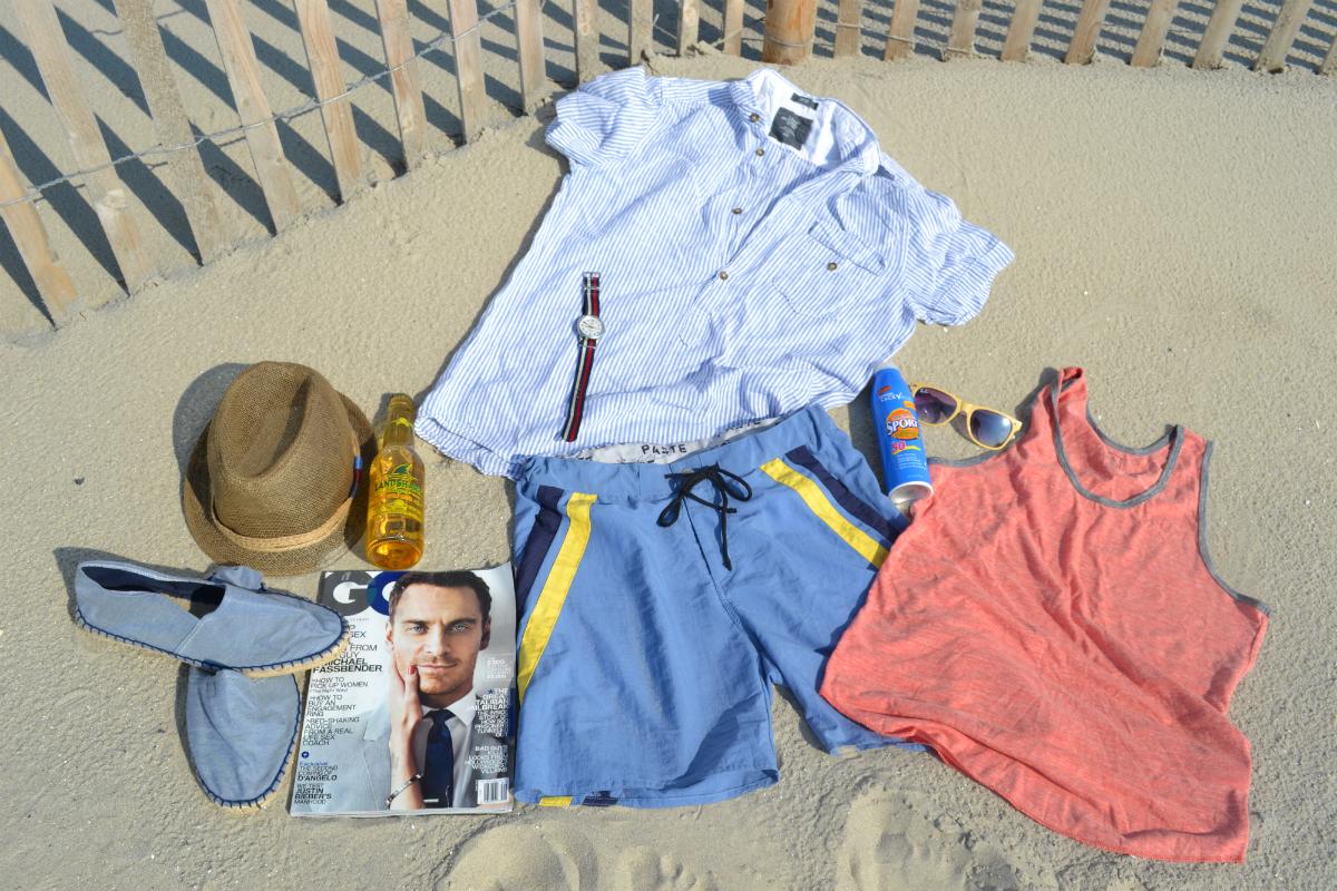 Что одеть и взять с собой на пляж мужчине