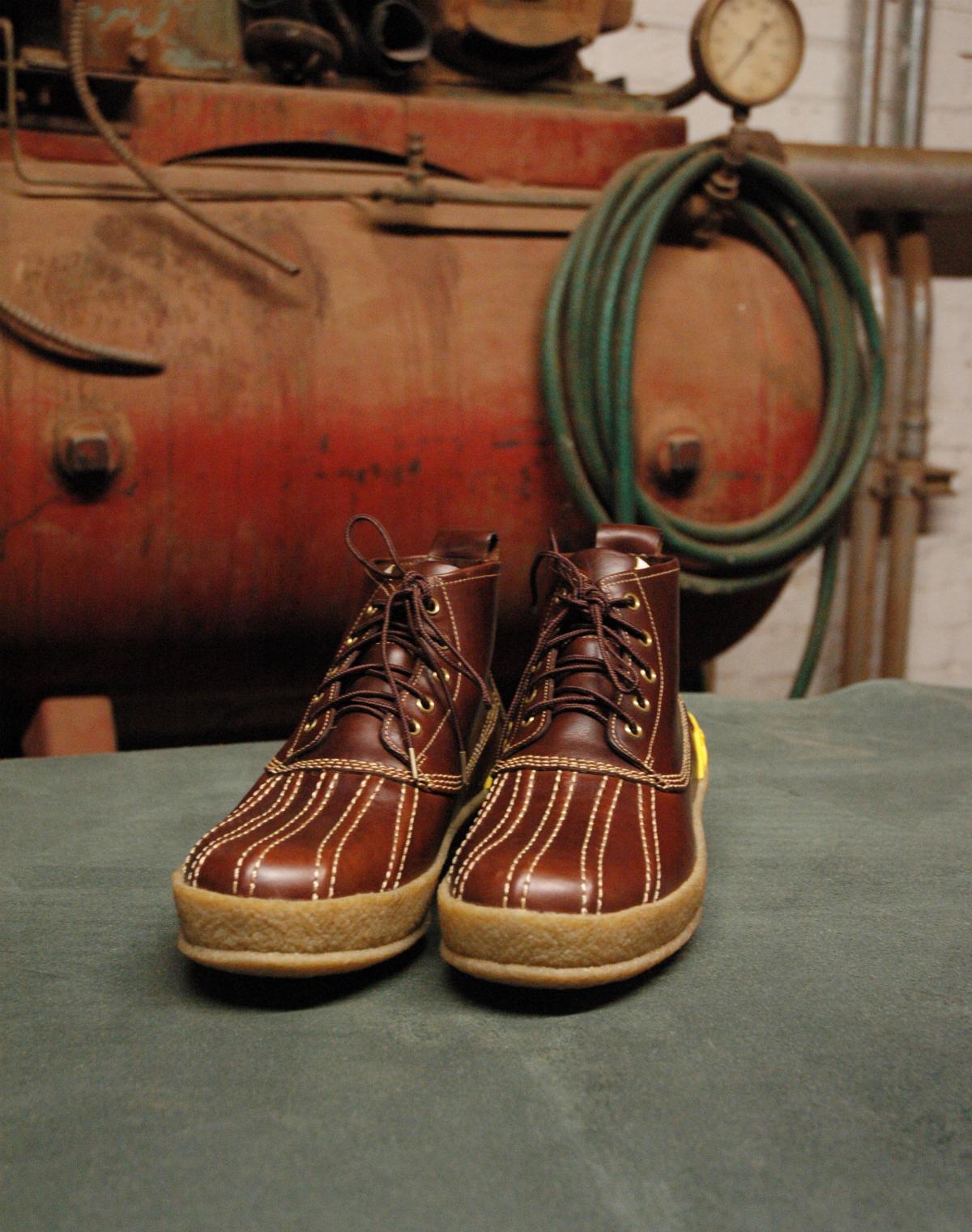 Мужские ботинки Visvim Duck Boots из коричневого Chromexcel