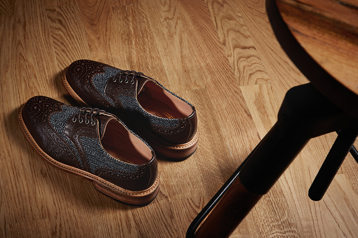 Мужские ботинки-броги с твидовыми вставками, Mark McNairy New Amsterdam