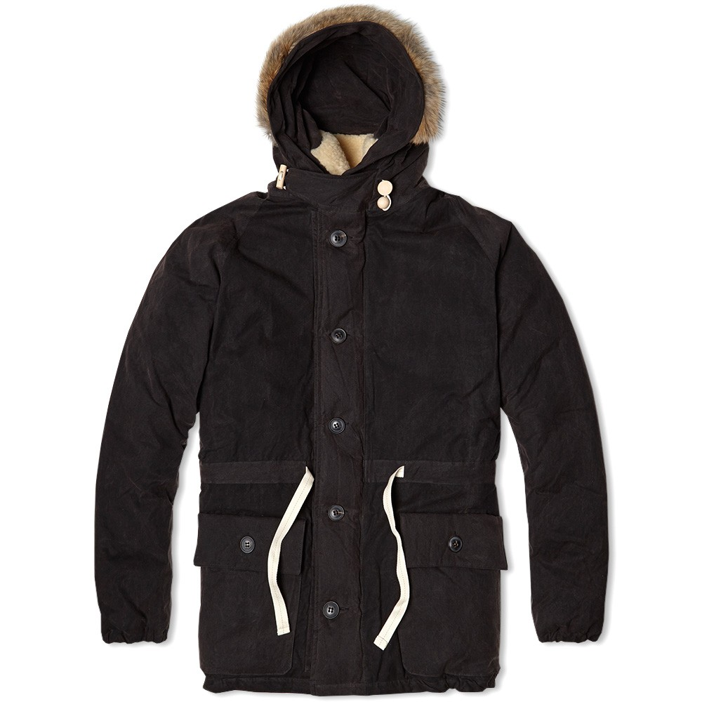 Зимняя мужская куртка большого размера из промасленной ткани Nigel Cabourn Everest Parka